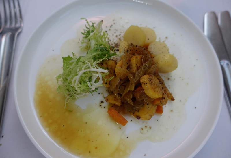 Scallop Escabeche, Qantas A380 First Class Review