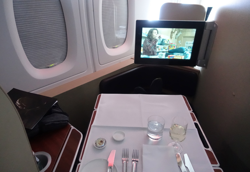 Qantas A380 First Class Review: Glare When Trying to Watch Films