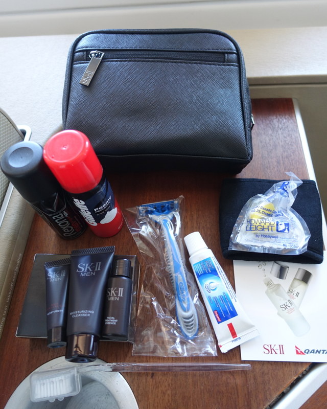 Qantas First Class SKII Amenity Kit Review