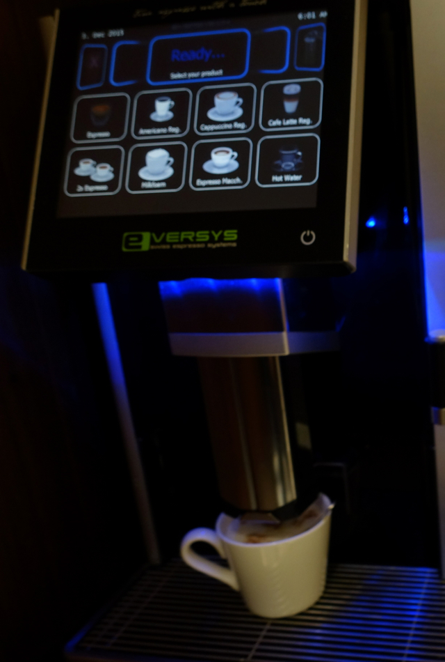 Espresso Drink Machine, Etihad Arrivals Lounge Abu Dhabi Review