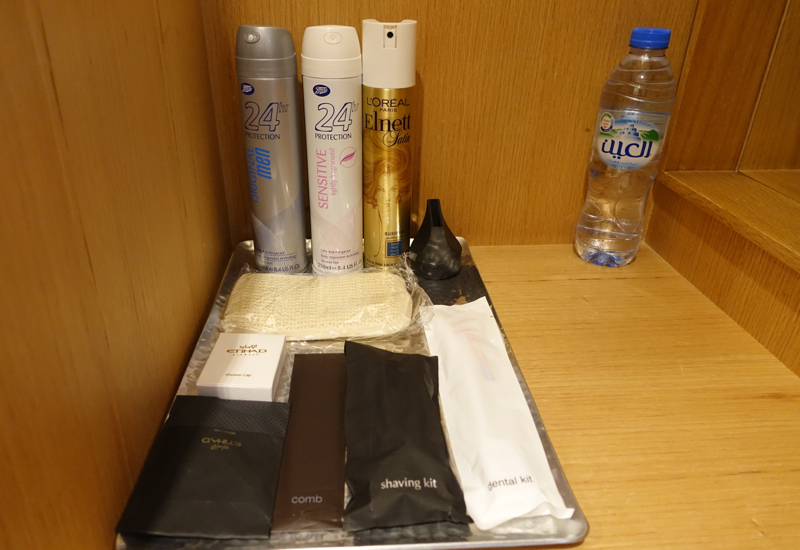 Shower Suite Toiletries, Etihad Arrivals Lounge Abu Dhabi Review