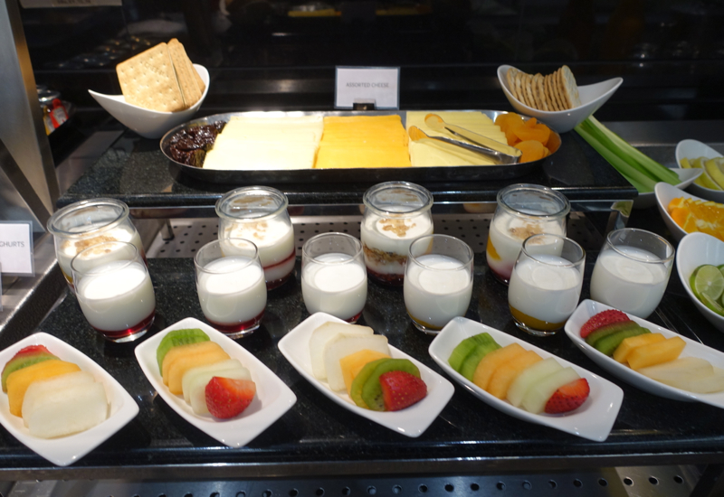 Yogurt, Fresh Fruit and Cheese, Etihad Arrivals Lounge Abu Dhabi Review