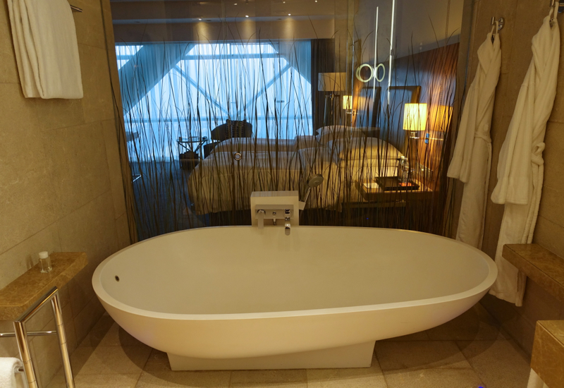 Open Plan Design Bathroom, Hyatt Capital Gate Abu Dhabi Review