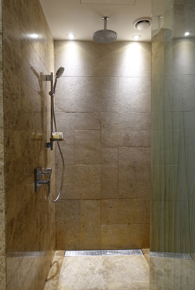Rain Shower, Hyatt Capital Gate Abu Dhabi Review