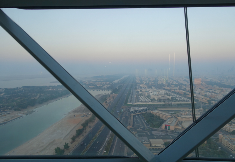 View from Standard Room, Hyatt Capital Gate Abu Dhabi Review