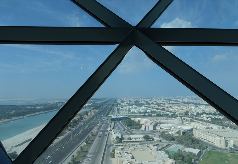 View from 18 Degrees Restaurant, Hyatt Capital Gate Abu Dhabi Review