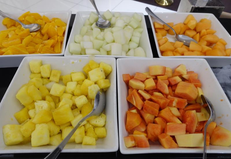 Cut Fresh Fruit, Etihad Premium Lounge Abu Dhabi Review