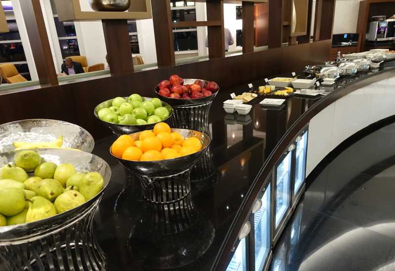 Fruit and Buffet, Etihad Premium Lounge Abu Dhabi Review