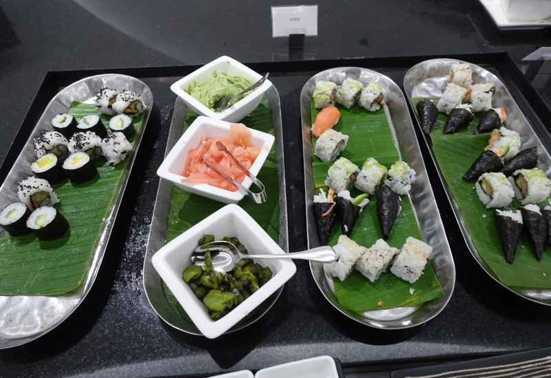 Sushi, Etihad Premium Lounge Abu Dhabi Review