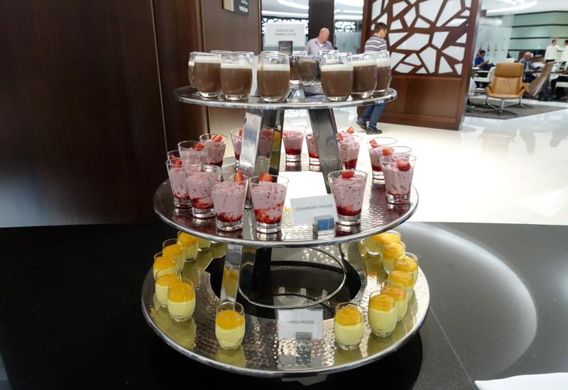 Desserts, Etihad Premium Lounge Abu Dhabi Review