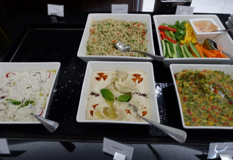Hummus and Arabic Mezze, Etihad Premium Lounge Abu Dhabi Review