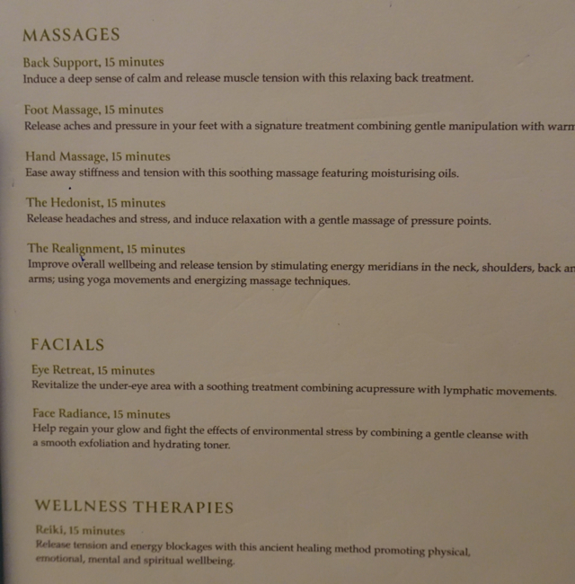 Six Senses Spa Menu Etihad Premium Lounge Abu Dhabi Review