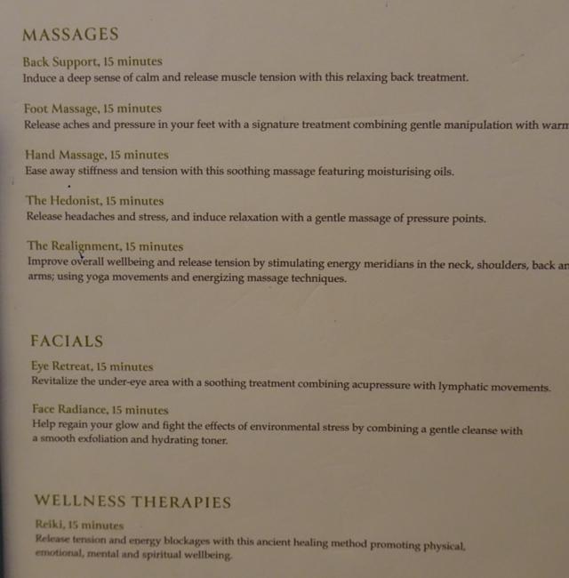 Six Senses Spa Menu Etihad Premium Lounge Abu Dhabi Review