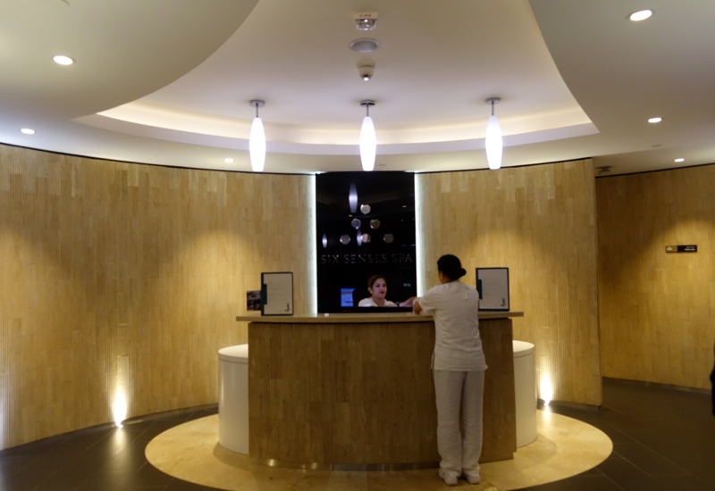 Six Senses Spa Reception, Etihad Premium Lounge Abu Dhabi Review