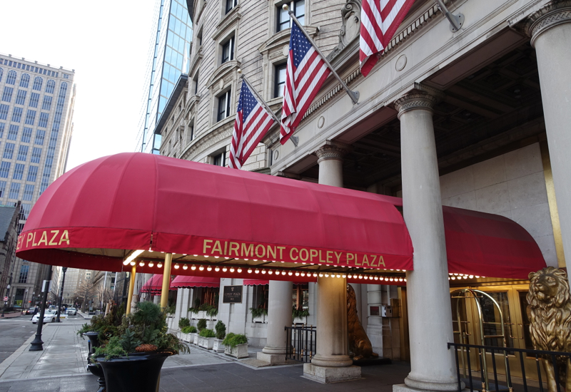 Entrance, Fairmont Copley Plaza Boston Review