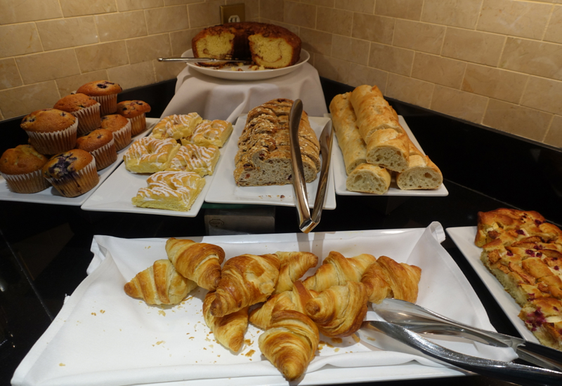 Pastries, Fairmont Copley Plaza Gold Floor Club Lounge Review