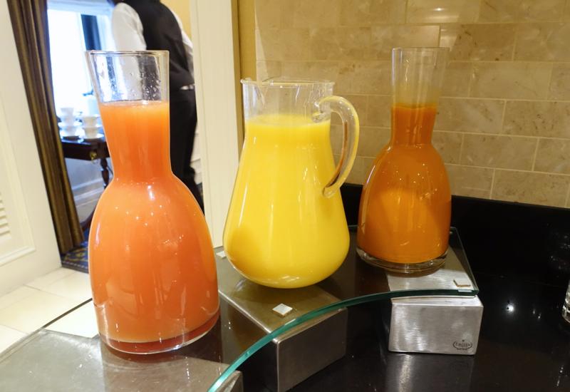 Juices, Fairmont Copley Plaza Gold Level Club Lounge Review