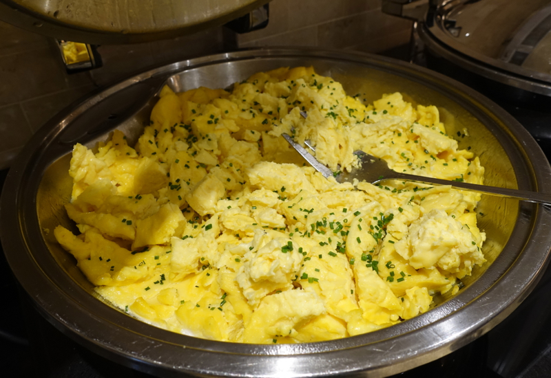 Scrambled Eggs, Fairmont Copley Plaza Gold Floor Club Lounge Review