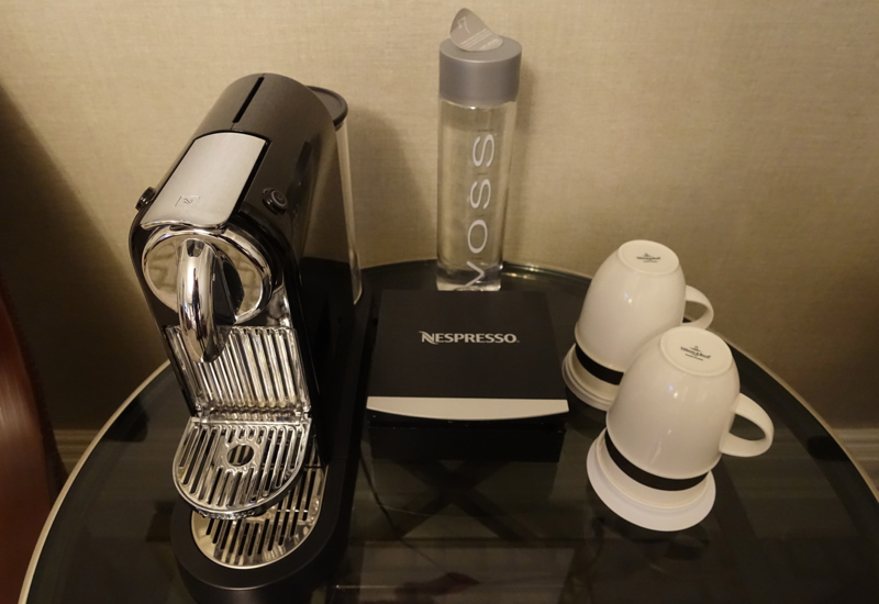 Nespresso Machine, Signature Gold King Room, Fairmont Copley Plaza Review
