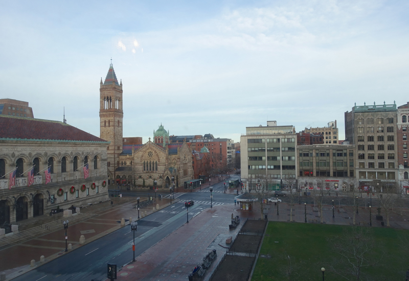 View from Gold Signature Room, Fairmont Copley Plaza Review