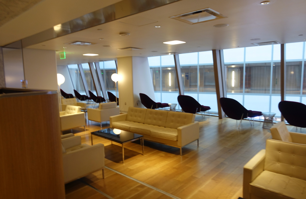 Sofas, Qantas First Class Lounge LAX Review