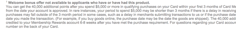 AMEX Business Platinum Card Signup Bonus Not Available For Current or Past Cardmembers