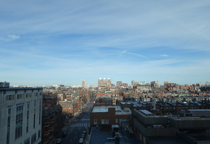 View from Mandarin Back Bay Room, Mandarin Oriental Boston Review