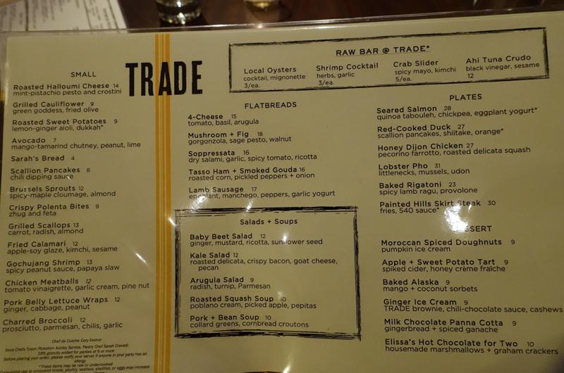 Trade Menu, Boston