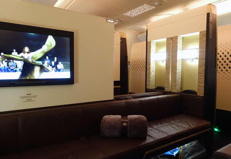 Etihad First Apartment 3K: Rear Facing Window Seat