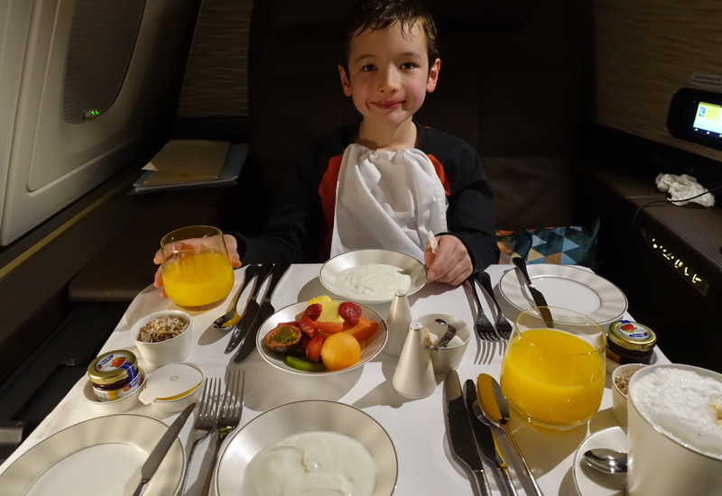 Breakfast, Etihad First Apartment A380 Review