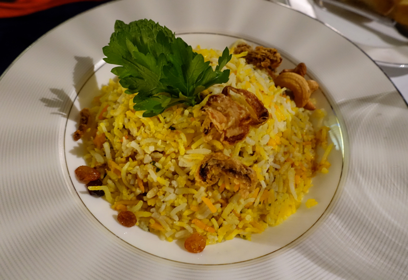 Lamb Biryani, Etihad First Class Apartment A380 Review