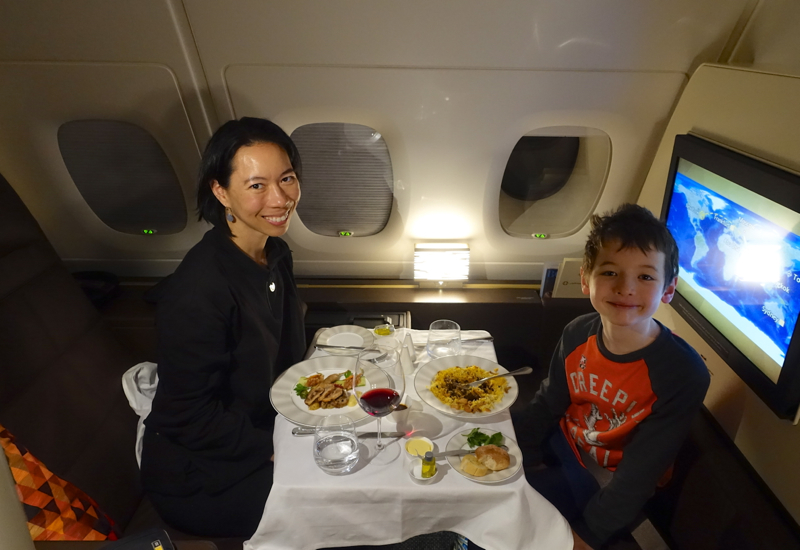 Table for Two, Etihad First Apartment on the A380 Review