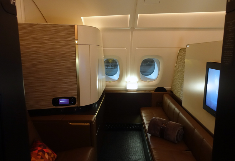 Etihad Apartment 1H is a Rear Facing Seat by the Aisle