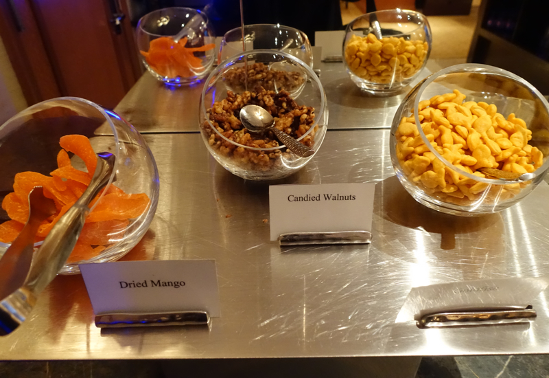 Snacks, Ritz-Carlton Boston Club Lounge Review