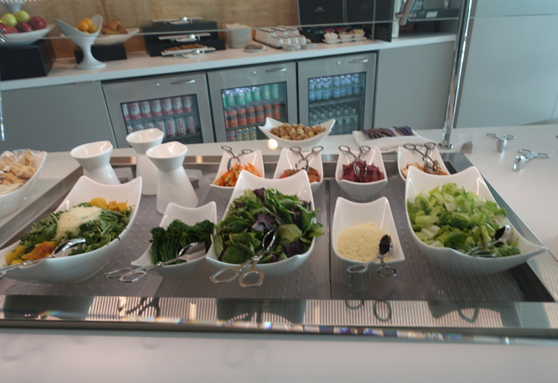 Salad Bar on Buffet, Etihad Lounge New York JFK Review