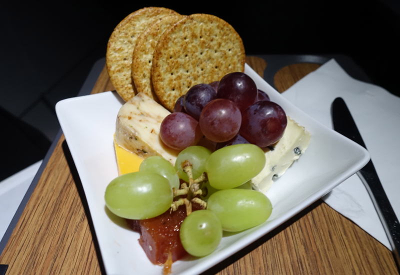 Cheese Plate, American A321 Business Class Review