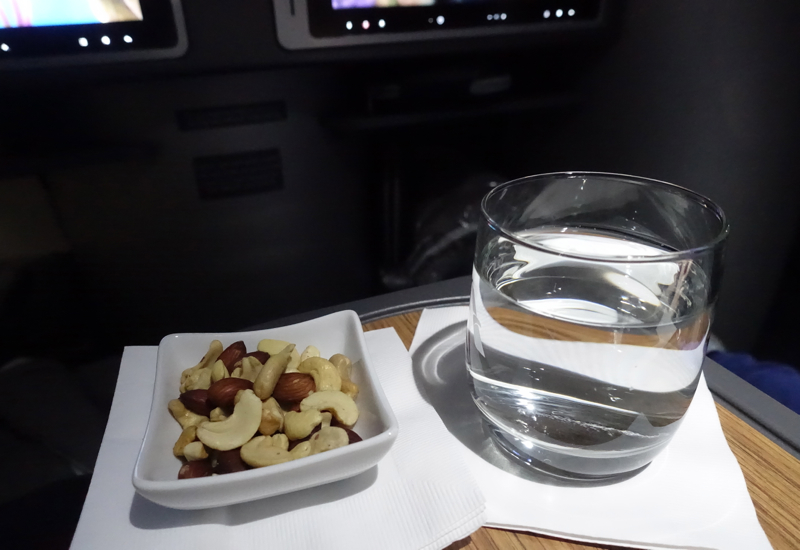 Mixed Nuts and Drink, American A321 Business Class Review JFK to LAX