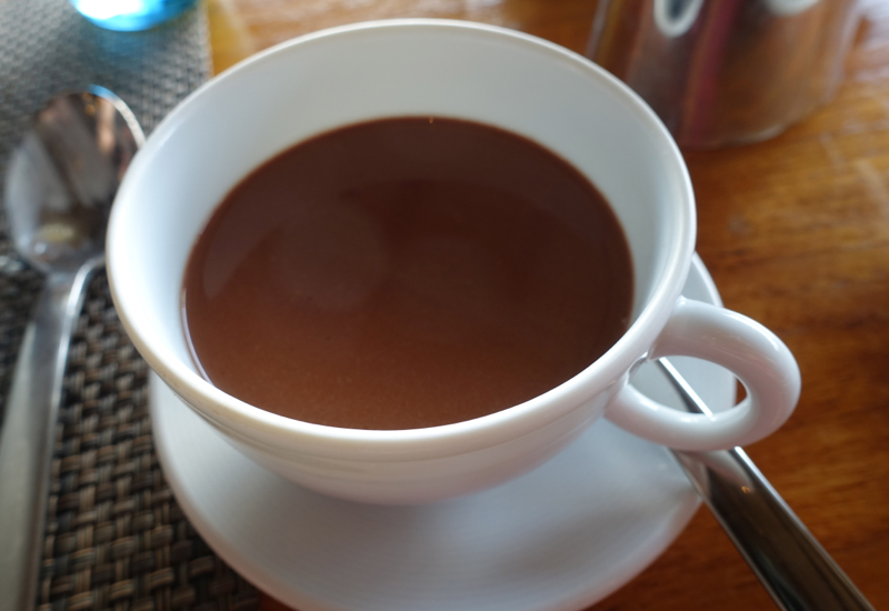Dark, Rich Hot Chocolate at Breakfast