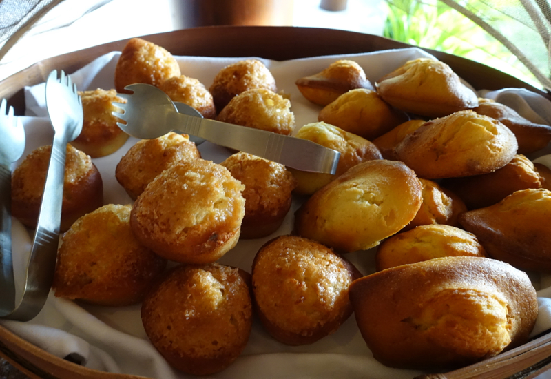 Fresh Madeleines and Financiers at Breakfast