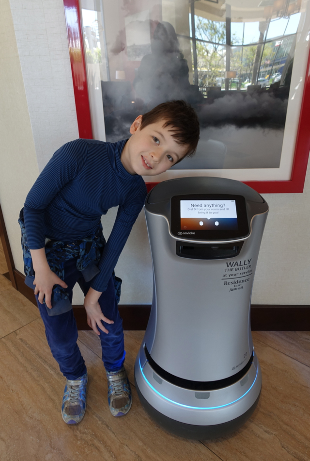 Wally the Robot Butler, Residence Inn LAX Airport Review