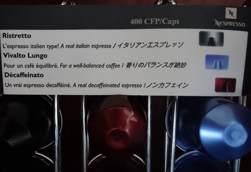 4 per nespresso pod at this luxury hotel