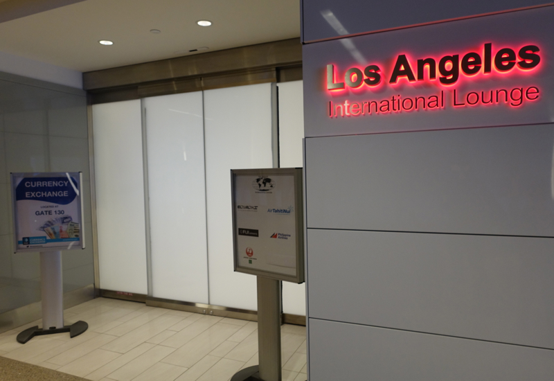 Entrance to Los Angeles International Lounge, LAX