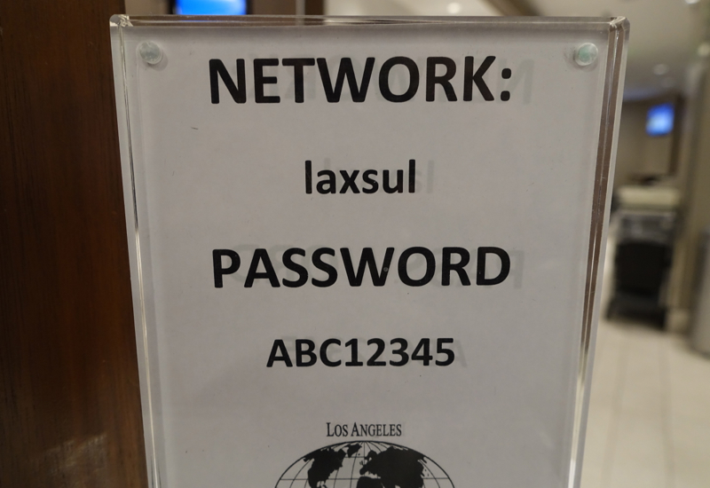 WiFi Password, Los Angeles International Lounge Review, LAX