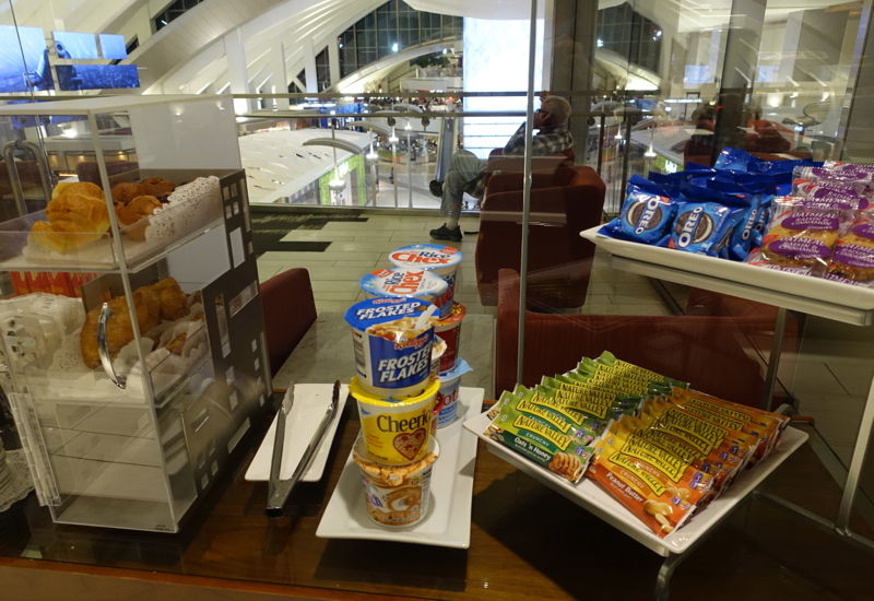 Cereal and Granola Bars, Los Angeles International Lounge Review LAX