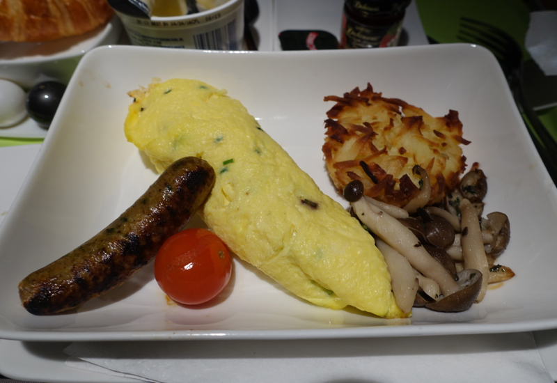 Breakfast Omelet, Air Tahiti Nui Business Class Review