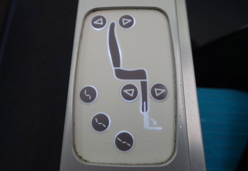 Seat Controls, Air Tahiti Nui Business Class Review