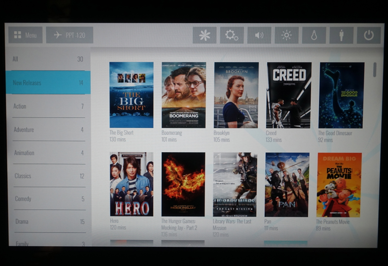 Air Tahiti Nui In Flight Entertainment: New Releases