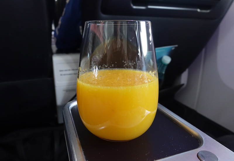 Best Premium Economy: Fresh Squeezed Orange Juice