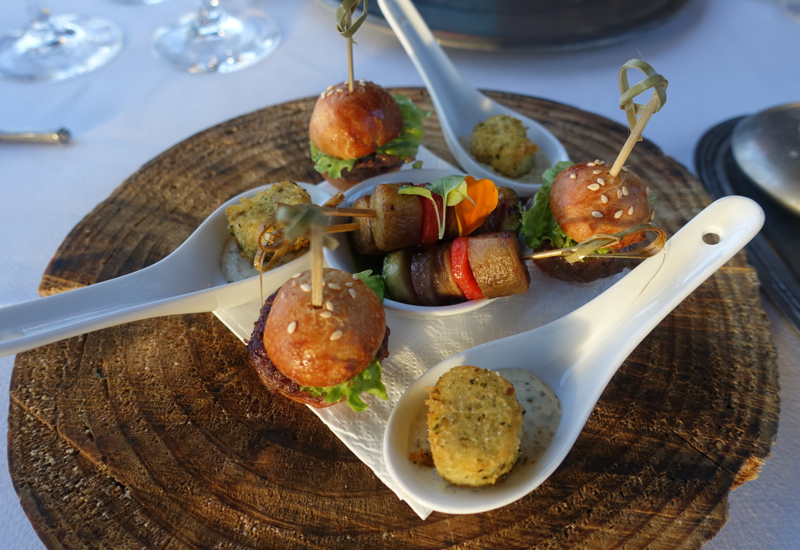 Pre-Dinner Canapes, Farm at Cape Kidnappers Review