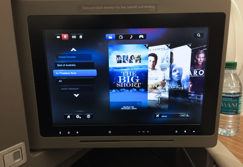American A321 First Class TV IFE Review